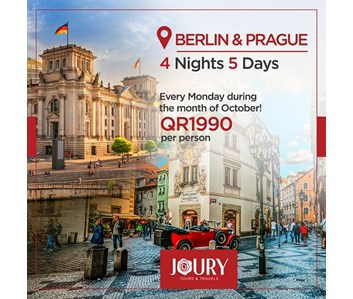 Travel to BERLIN & PRAGUE every MONDAY during the month of OCTOBER!!!