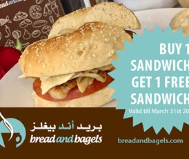Bread and Bagels - Buy 1 Get 1 Free - Sandwich