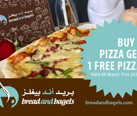 Bread and Bagels - Buy 1 Pizza get 1 Free Pizza