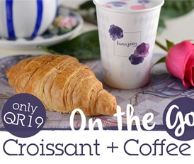 Croissant + Coffee for QR19