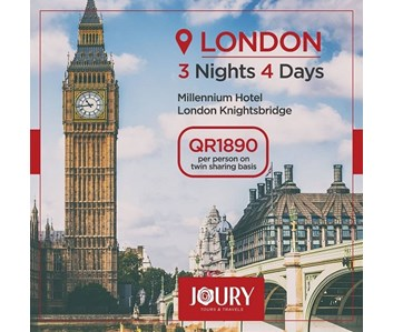 LONDON 3NIGHTS/4DAYS PACKAGE