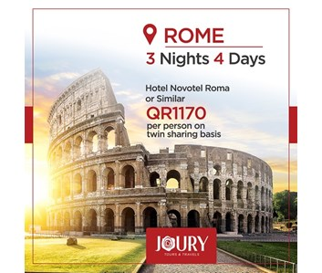 3 NIGHTS / 4 DAYS BEST OF ROME PACKAGE