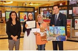 Winners of Mall of Qatar art competitio